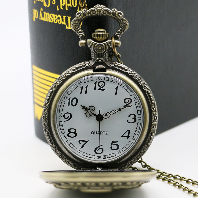 Badass 2nd Amendment Pocket Watch With Necklace Chain