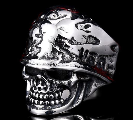 Badass US Soldier Skull Ring