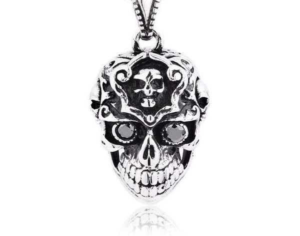 Steel Skull Head Pendant