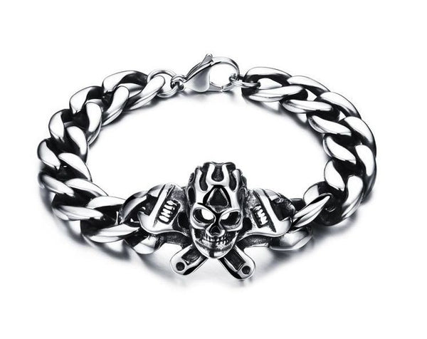 Skull with Wrenches Bracelet