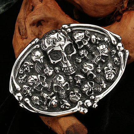 Badass Stainless Steel Skull Belt Buckle