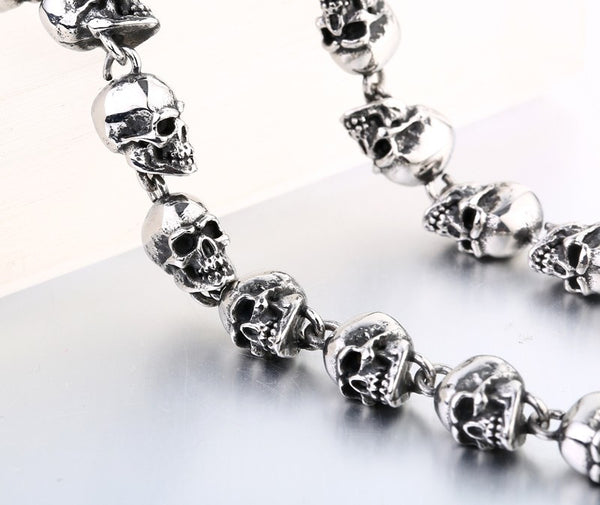 Stainless Steel Badass Skulls Men Necklace