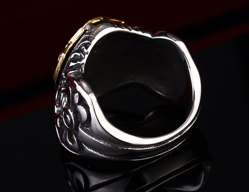 Badass Stainless Steel Knights Ring