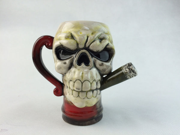 Badass Ceramic Coffee & Beer Mug By The Smokin' Skull (Start FREE + S/H)