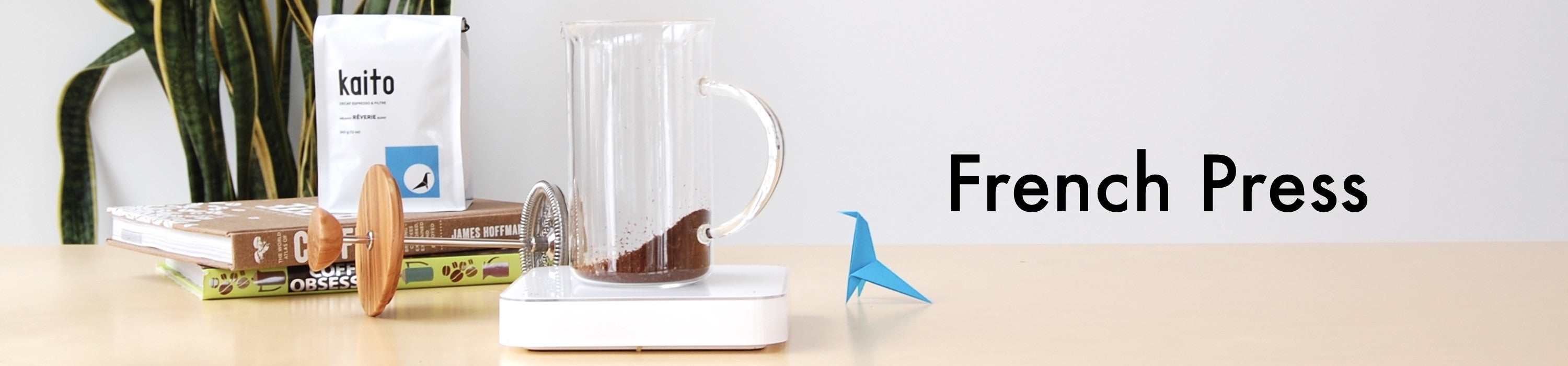 french press cafetière à piston origami