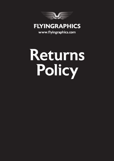 Flyingraphics returns policy