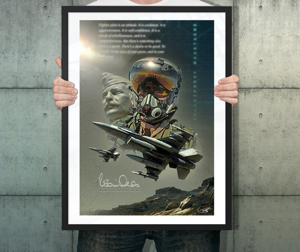 Robin olds-peter van stigt-flyingraphics-poster