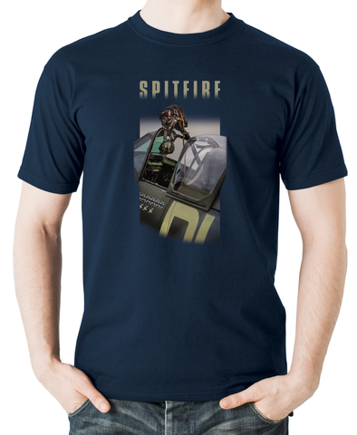 Spitfire-ready to scramble-flyingraphics-tshirt