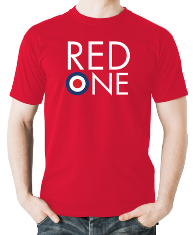 Red one-raf-flyingraphics-tshirt