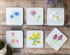 Set of 6 Botanical Coasters