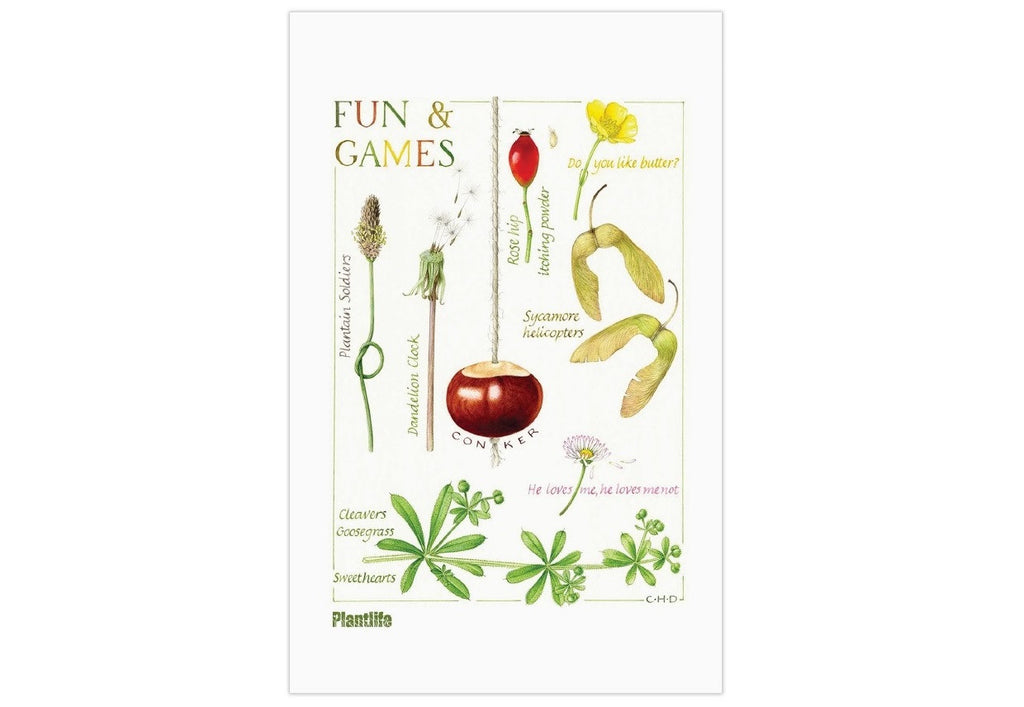 Fun & Games tea towel