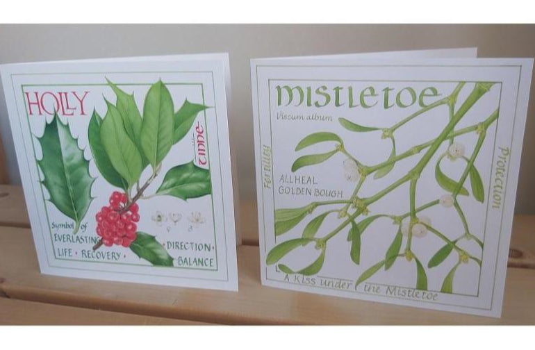 Christmas Cards - Botanical Illustration Twin Pack