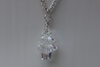 Hand-made Christmas Tree Necklace - Iridescent Crystal
