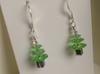 Hand-made Christmas Tree Earrings - Peridot