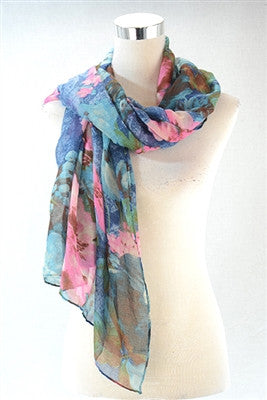 Floral Watercolour print scarves