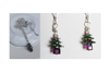 Hand-made Christmas Tree Necklace and earrings SETS - Sterling Silver