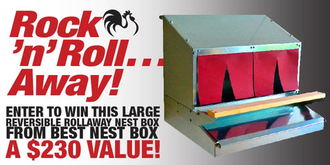 Chicken Whisperer nest box giveaway
