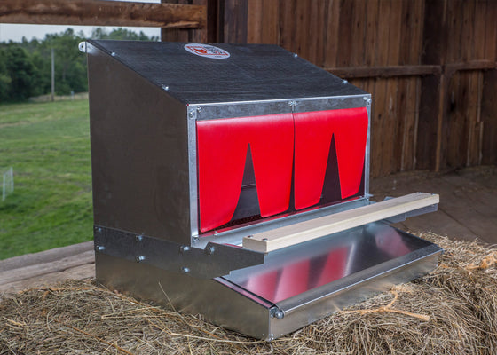 Roll out metal chicken nest box for sale