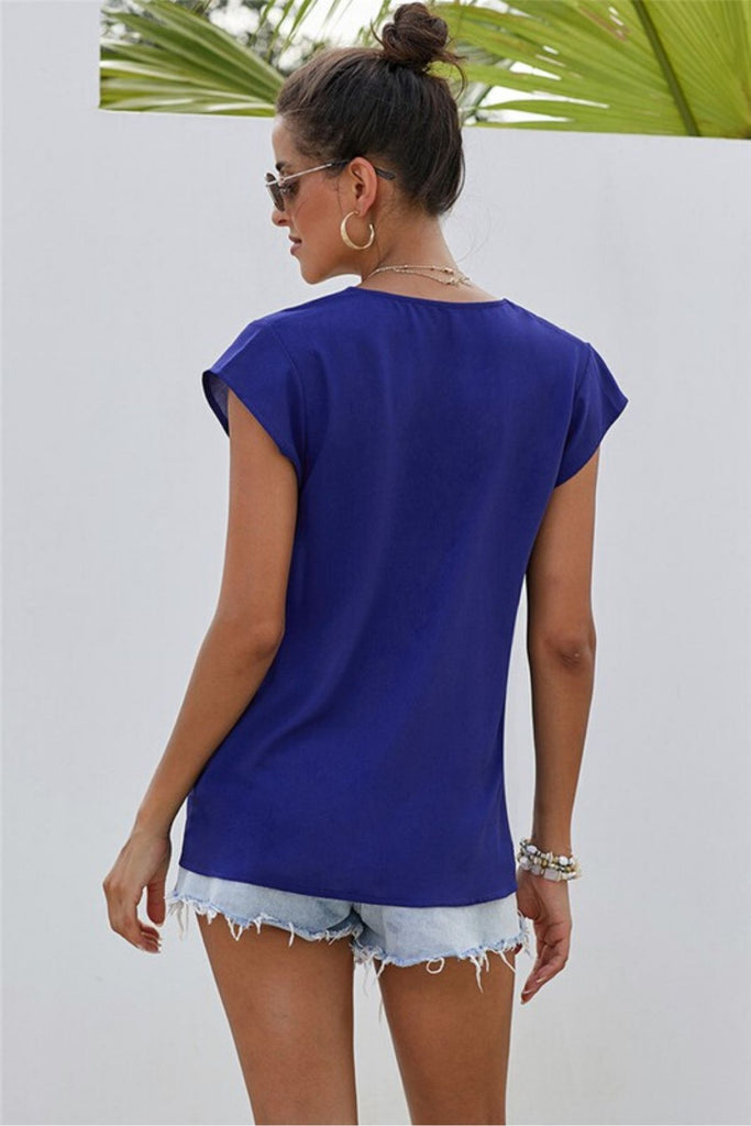 Riviera Embroidered Blue Top