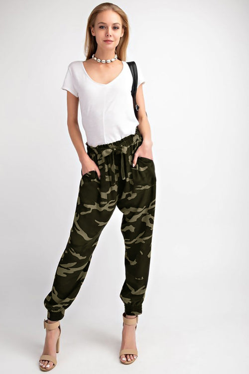 At Attention Camo Joggers