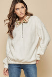 Frontier Camo Collar Fleece Pullover