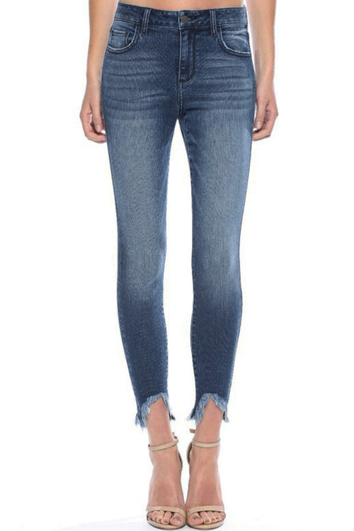 Camryn Frayed Ankle Skinny Jeans