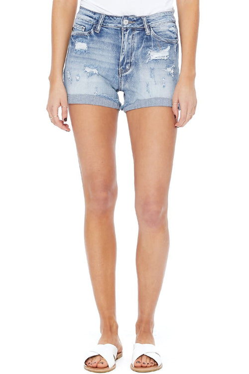 Caroline Raw Hem Denim Shorts