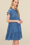 Carter Tiered  Denim Dress