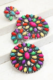 Fiesta Circle Drop Earrings