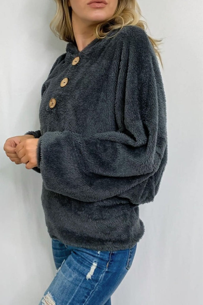 FIreside Charcoal Hooded Top