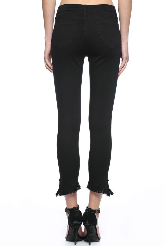 Great Heights Frayed Ankle Black Skinny Jeans