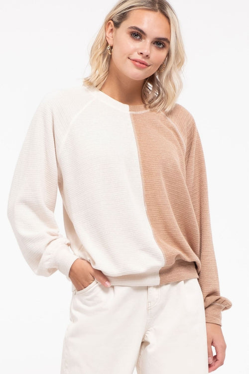 Half And Half Colorblock Sweater