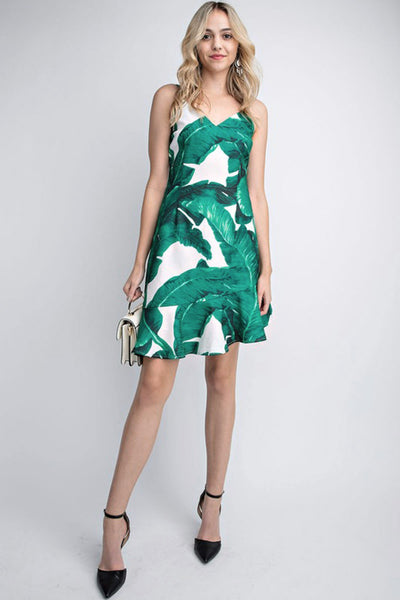Here Comes The Sun Tropical Print Dress