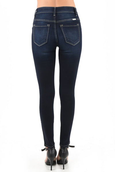 Jaden Dark Wash High Rise Skinny Jeans