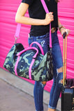 Jetsetter Pink Accent Camo Print Travel Duffle Bag