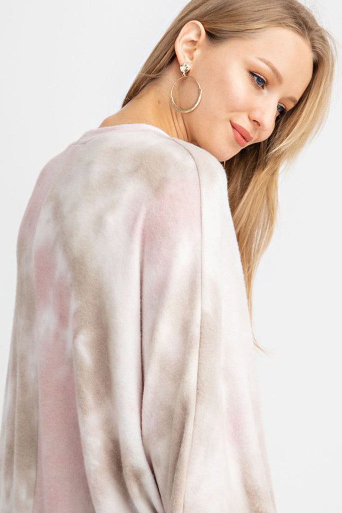 Kaia Dolman Bubble Sleeve Tie Dye Top