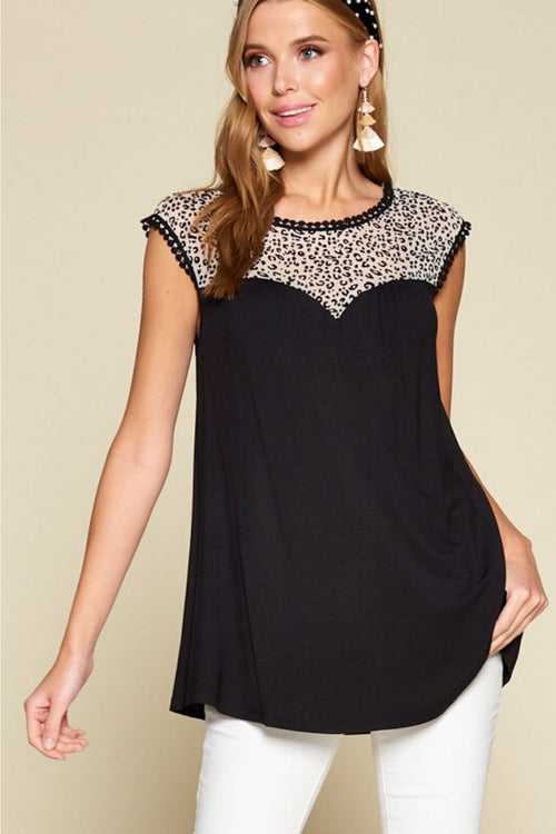 Make Your Mark Leopard Top