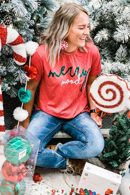Merry Mood Holiday Graphic Tee