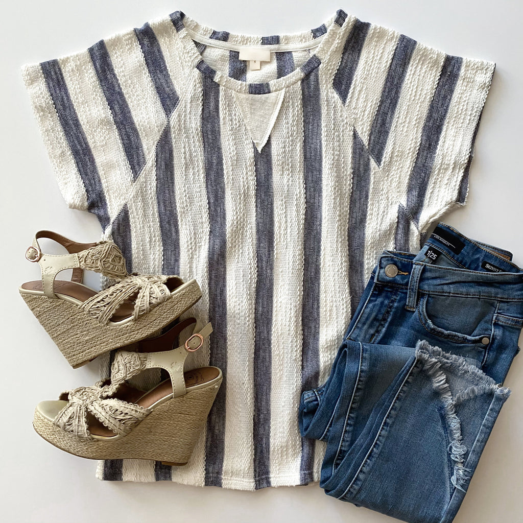 On Deck Navy Stripe Top