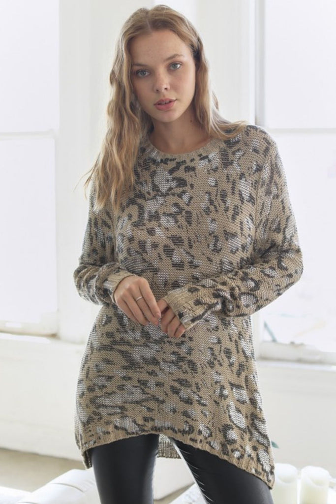 On The Prowl Leopard Print Sweater