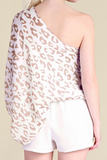 On The Prowl Taupe Leopard Print Top