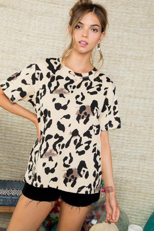 Play It Cool Leopard Print Top