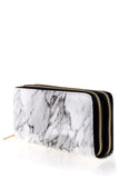 Reflections Glossy Marble Print Double Compartment Wallet