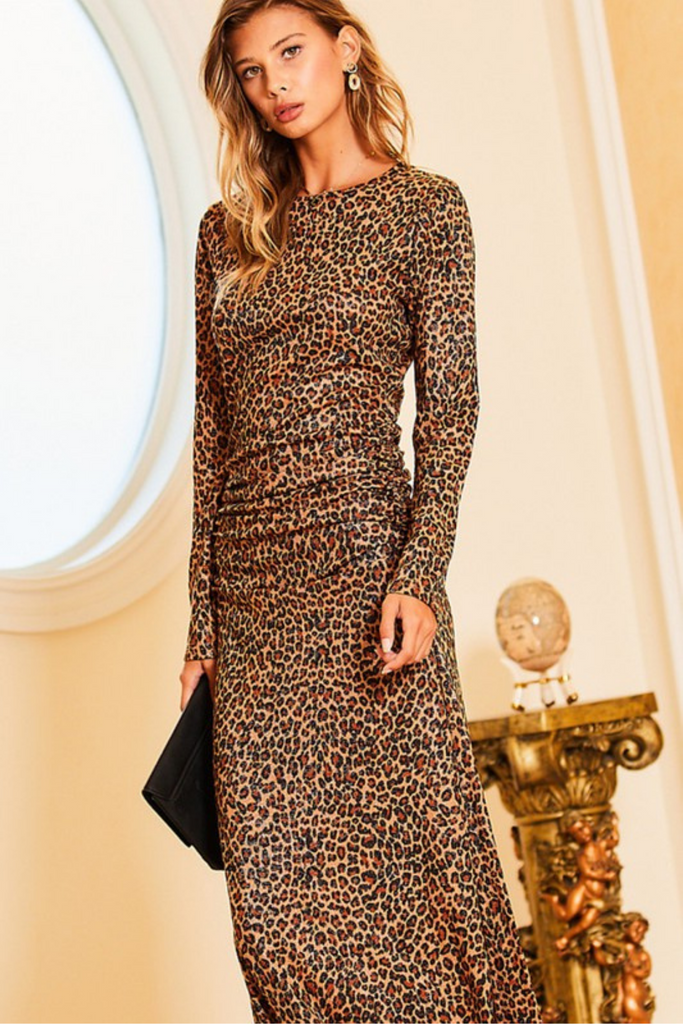 Showstopper Leopard Print Maxi Dress