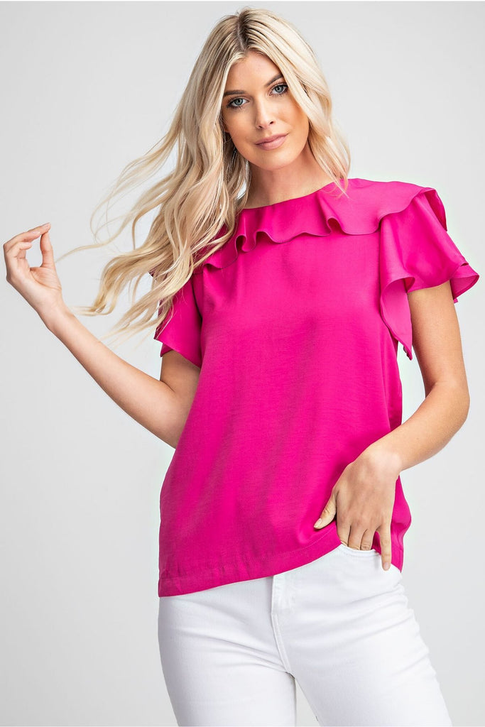 Spring In My Step Fuchsia Top