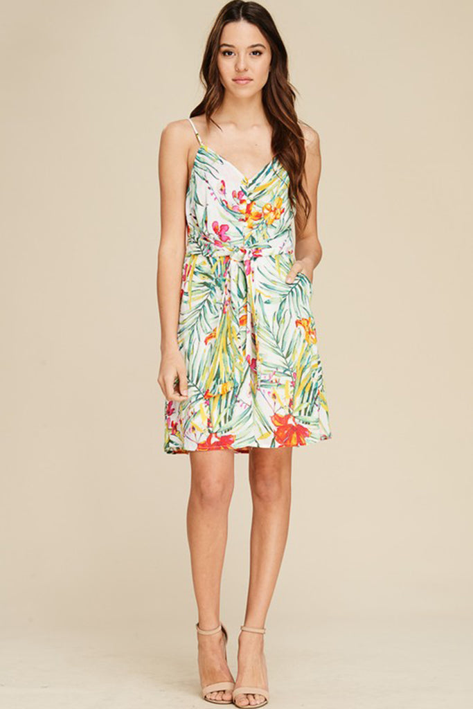 Sweet Escape Tropical Print Dress