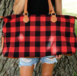 The Getaway Plaid Weekender Travel Bag