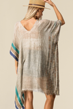 Surfside Khaki Cover-Up Tunic Top