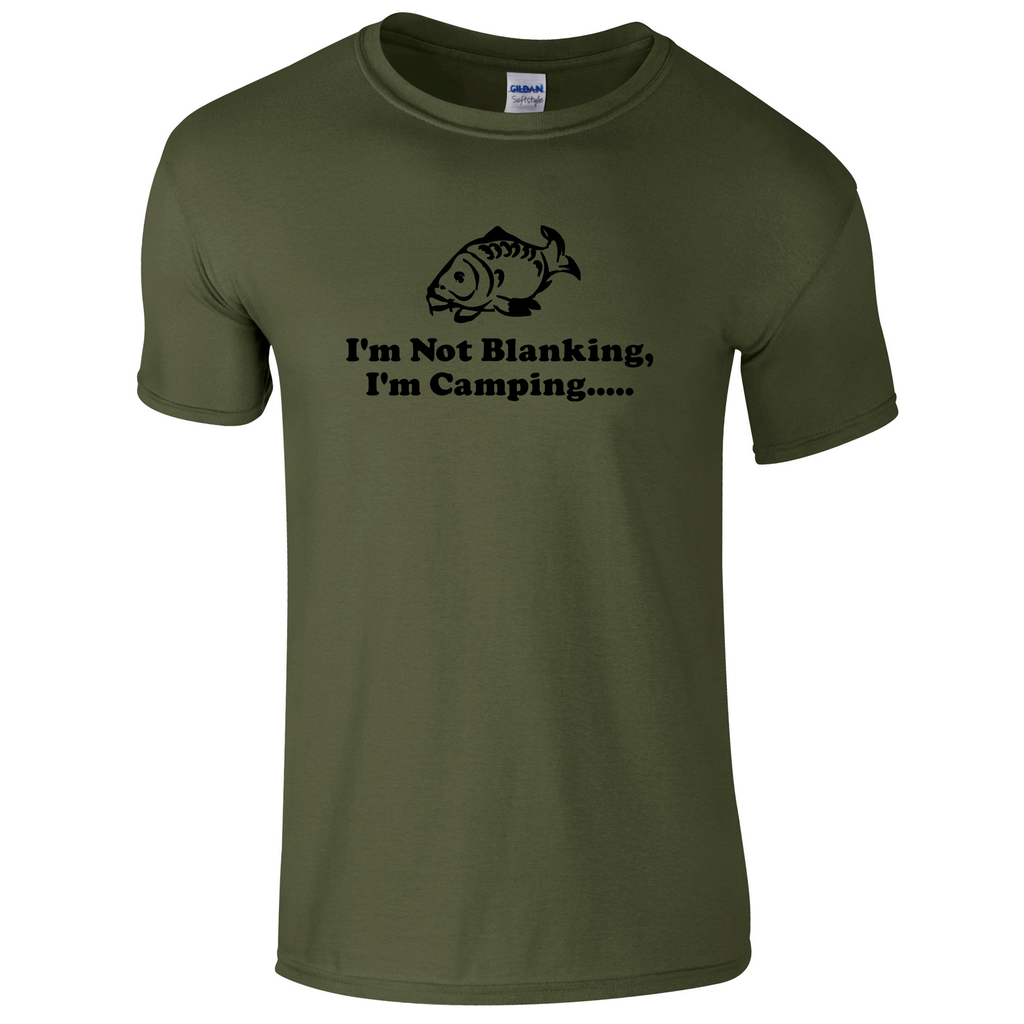 Camping, not Blanking  Fishing Threads Men's T-shirt