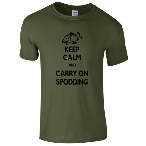 Carry on Spodding Keep Calm  Fishing Threads Men's T-shirt